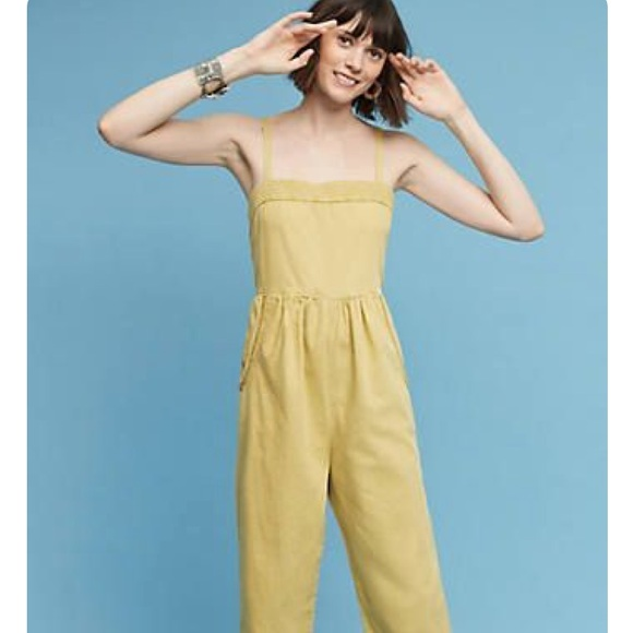 f565fa4d3d4 Anthropologie Pants - Anthropologie cotton linen overalls